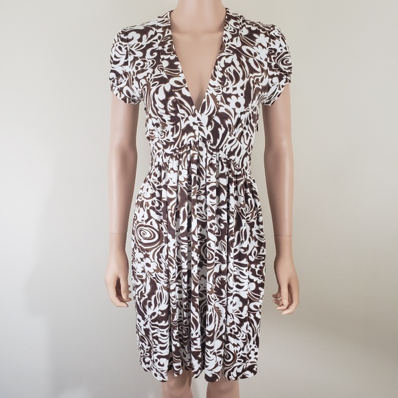 c7ad21e38f Milly Of New York V Neck Short Sleeve Dress S